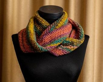 Easy crochet scarf pattern, PDF pattern, beginner crochet pattern, crochet infinity scarf pattern, Instant Download /1024/