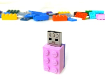 Lego usb flash drive 8GB USB - Memory Stick -  Lego® original usb Brick - Lego® 2x3 Brick - Lego® usb in original piece - Pink brick usb