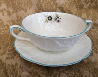 Coalport Country Ware 'Country Meadows' Cream Soup Cup and Saucer