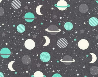 Space Explorers Fabric - Planets