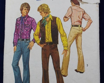 Sewing Pattern for a Man's Shirt, Waistcoat & Trousers in Size 42 - Simplicity 5048