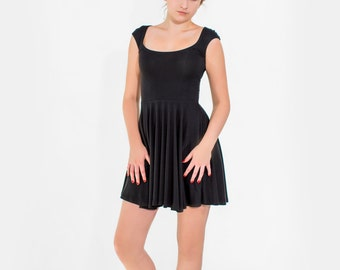 Fiona skater dress in bamboo and organic cotton jersey with capped sleeve