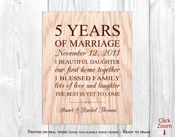 5th Wedding Anniversary Traditional Gifts: Wood Anniversary Gifts For Him 5th Anniversary Gift Wood 5th