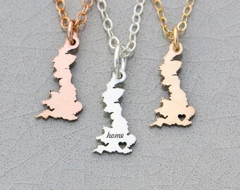 Great Britain Jewelry • Europe Charm Gift • Country United Kingdom Jewelry Europe Necklace UK Jewelry Country Great Britain Gift