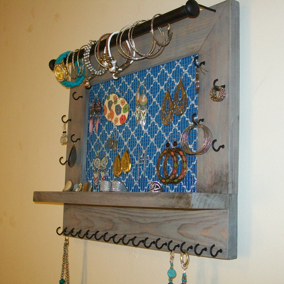 Jewelry Organizer Wall Jewelry Holder And Organizers On: Jewelry Organizer-Wall Hanging Jewelry Display-Earring