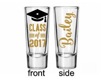 Class of 2017 shot glass - made to order