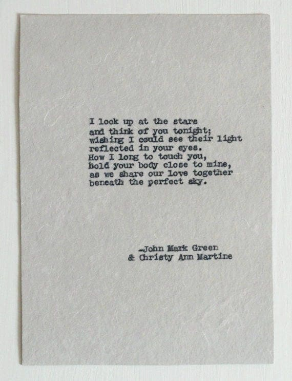 Long Distance Gifts for Her  - Love Poem - LDR Gifts - Long Distance Relationship Quotes by John Mark Green & Christy Ann Martine