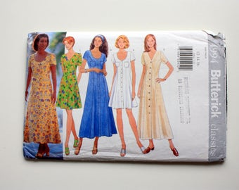 Butterick 4994 Unused Pattern Misses/Misses Petite Dress Size 12.14.16