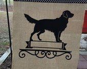 Golden Retriever/ dog/ Garden Flag/ Golden Retriever garden flag/Dog Burlap Flag