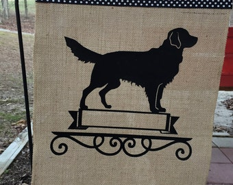 Golden Retriever/ dog/ Garden Flag/ Golden Retriever garden flag/Dog Burlap Flag