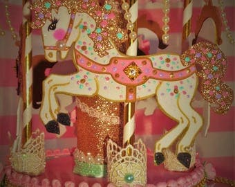 Carousel Cake topper/ Centerpiece/ Party decoration/ carousel theme / carousel