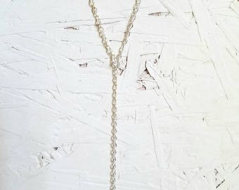 Silver Toned Y Necklace, Guitar String Jewelry, Dainty Every Day Necklace, Gifts for Music Lovers, Musician Jewelry, Gifts for Her Under 25