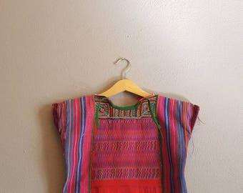Vintage Childs Huipil + Guatemalan Handwoven Bag - Girls 1 to 2 yrs.