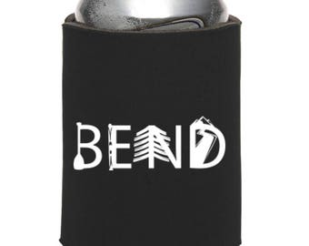 Bend Oregon Activity Letters Beer Can Cooler