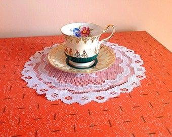Vintage Queen's fine bone china tea cup and saucer made in England