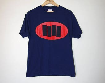 1997 BLACK FLAG BARS logo navy t-shirt size medium