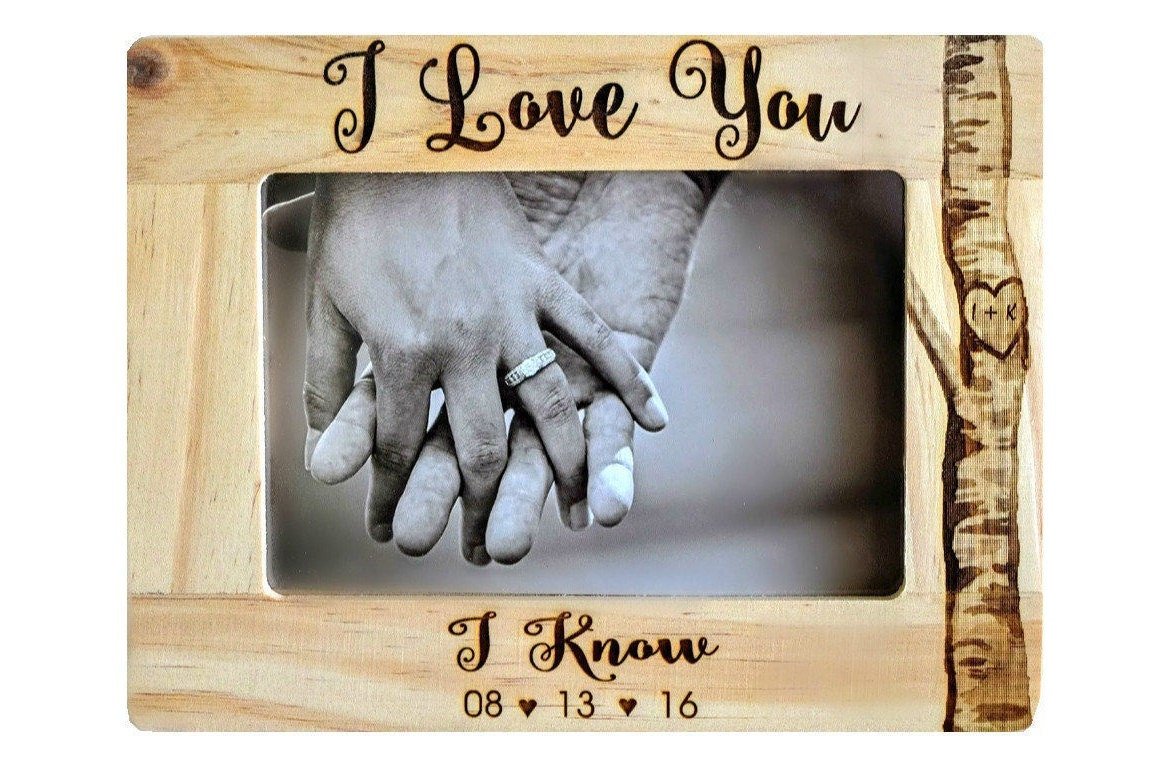 Star Wars I Love You Know Picture Frame
