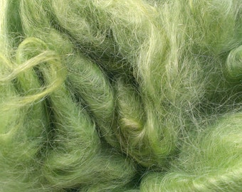 Hand dyed Suri Alpaca fleece