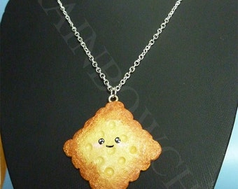 Pendant all sand biscuit smile in fimo