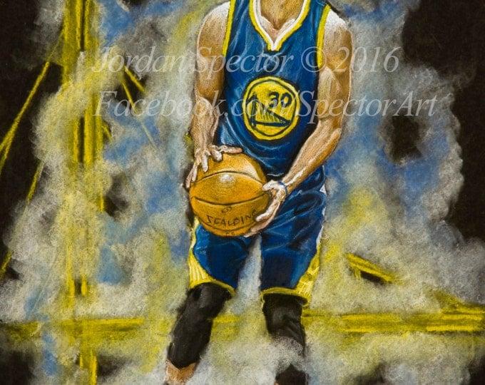 Steph Curry - Golden State Warriors - Art Print - Chef Curry - Warriors Wall Art - Man Cave Art - Golden State - Warriors Decor - Dorm Decor