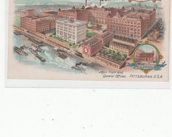 HJ Heinz Headquarters Pittsburgh Pickles And Food Products 57 Varieties 1905 Undivided Antique Postcard