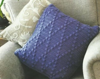Crochet Bobble Diamond Cushion PDF Crochet Pattern