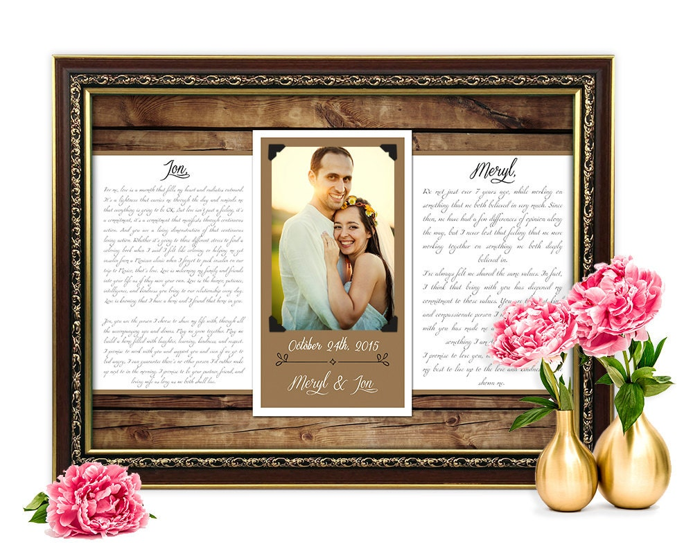 Wedding Vows Gift: Anniversary Gift For Women Wedding Vows Picture Frame First