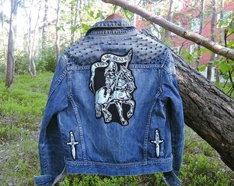 Denim backpatch | Etsy