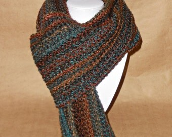 Simple Men & Women's Variegated Scarf
