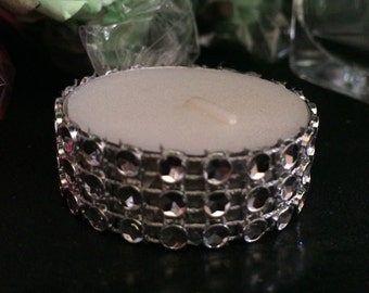 32 Faux Diamnond Bling Tealight candles for weddings , quinceaneras , bridal showers