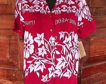 Medium Vintage Gloria Vanderbilt Hawaiian Blouse