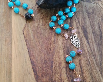 SALE - Four Winds Prayer Beads, Pagan Rosary, Pagan Mala Beads, Pagan, Wiccan, Meditation