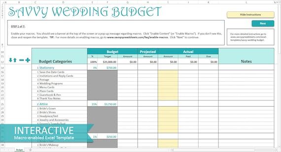 Wedding Excel Template