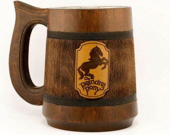Prancing pony mug 23Oz, Lord of the Rings mug, Hobbit mug, Prancing Pony Pub Inspired tankard, Geeky Gift, LOTR Gift, LOTR Pint