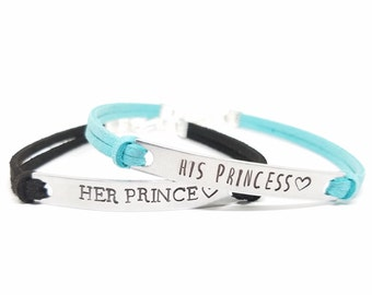 His PRINCESS Her PRINCE Bracelets | His and Hers | Matching Bracelet for Couples | Personalized Couples Bracelet Set | Relationship Jewelry