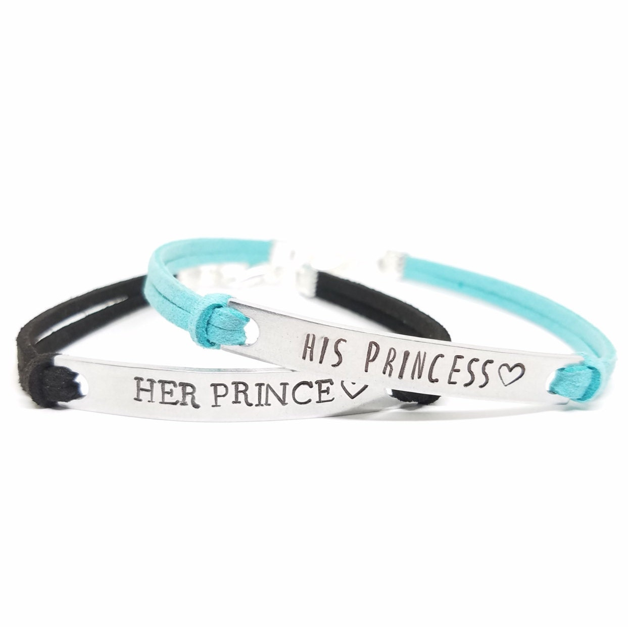 His PRINCESS Her PRINCE Bracelets His and Hers Matching