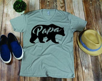 papa bear shirt papa bear t-shirt shirt for father gift for husband from wife first fathers day fathers day Shirt for dad Papa Father Day