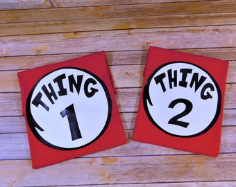 Thing 1 - Thing 2- Thing Mom_ Thing Dad- Dr. Seuss Shirts - Kids Birthday - Family Reunion - Custom Personalized Tshirts - Cat in the Hat