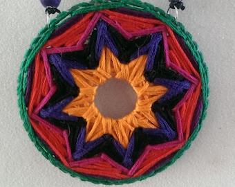 multicolored star pendant