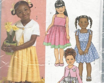 Butterick 4715 Girls Dress and Jacket Size 1-3
