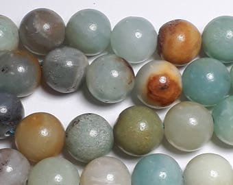 6pcs Amazonite Beads (Grade B) - Natural Amazonite Beads - Amazonite Gemstones - Blue Gemstones - 10mm Beads - Natural Beads - Q00069