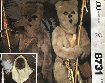 McCalls 8731 - Star Wars Ewok Costume - Size Small