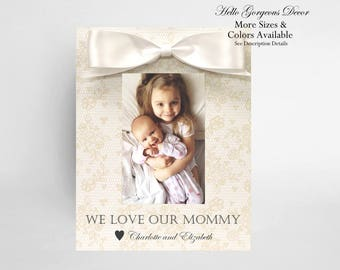 Mom Gift Picture Frame Personalized Mother Birthday Ideas New Expecting Soon To Be TWINS Pregnancy Custom Photo Frames