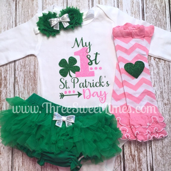 My First St. Patrick\'s Outfit Day Baby Girl Outfit