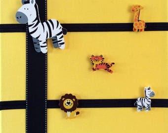 Zoo Animal Magnets, Nursery Magnets, Refrigerator Magnets, Bulletin Board