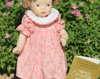 PORCELAIN DOLL By Franklion Mint, Heritage Heirlooms Collection, Monday's Child.