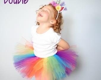 Rainbow Unicorn Tutu - Pink Rainbow Tutu - Unicorn Birthday Tutu - Unicorn Party Tutu - Rainbow Baby Tutu - Rainbow Birthday Tutu