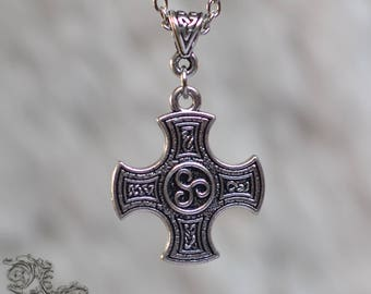 "Necklace "" Battle Cross "" - Medieval, celtic, viking"