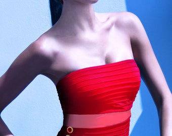 The Edge bandeau red by SIlvian Imberg