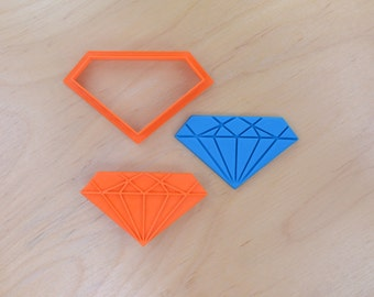 Diamond Shape Cookie Cutter and Stamp Set